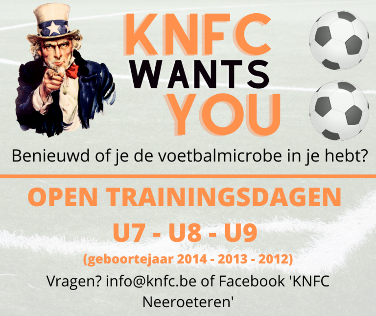 Open trainingsdagen U7 – U8 – U9